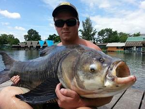 Carp fishing Bangkok Bungsamran Lake Thailand