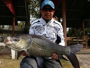 Carp fishing Cha Am Fishing Park Thailand