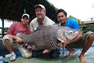 Carp fishing Thailand 63kg Giant Siamese Carp