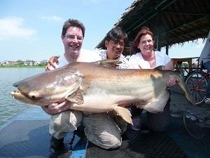 Fishing at Bungsamran Lake
