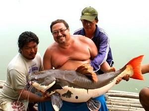Fishing at Palm Tree Lagoon for Arapaima