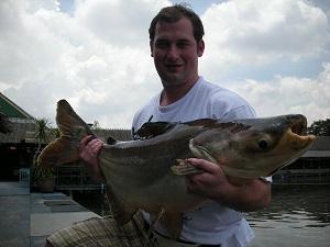 Fishing for Mekong Catfish in Bangkok