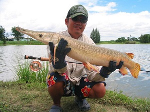 Fly Fishing in Thailand at Lake Monsters