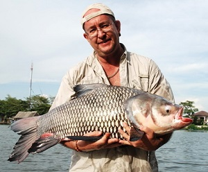 Pop-up Boiles Carp fishing Bungsamran Lake in Bangkok