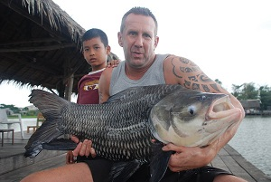 Six Giant Siamese Carp fishing in Bangkok