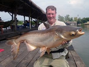 Thailand Fishing for Mekong Catfish