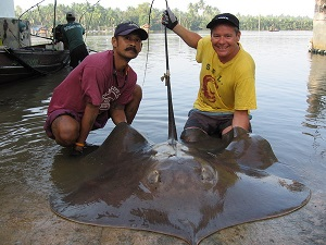 Thailand Monster fishing for Stingrays
