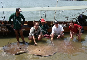 Stingray fishing Maeklong River2012