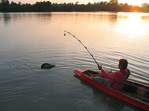 Fishing in Thailand Bank Pakong river