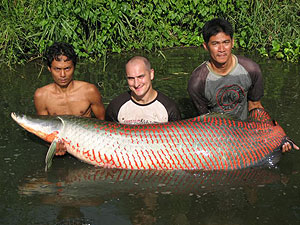 bunsamran lake fishing for arapaima gigas