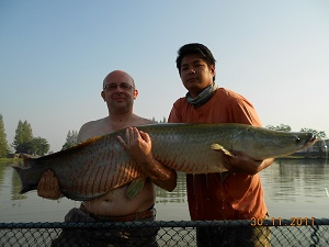 Arapaima fishing Thailand IT Lake