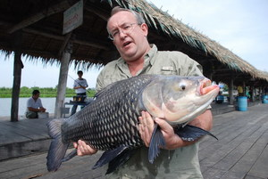 Big Carp and Mekong Catfish caught fishing in Bangkok