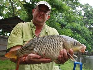 Carp fishing Dream Lake Chiang Mai Thailand