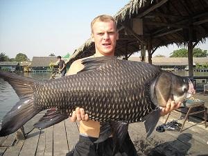 Carp fishing in Thailand Bungsamran Lake Bangkok