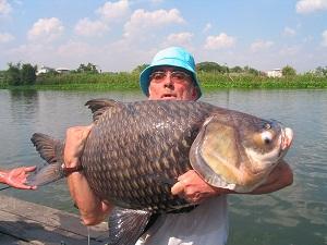 Carp fishing in Thailand at Bungsamran