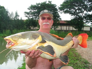 English angler bags up fishing IT Monster in Thailand