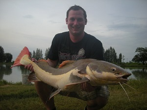 Fishing for Arapaima in Thailand