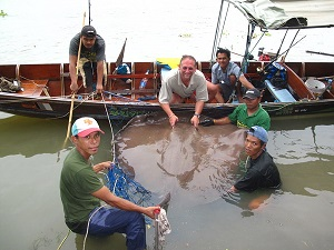 Freshwater Stingray fishing 2009