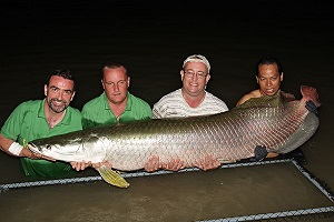 Ian Welch Anglers Mail catches big Arapaima Thailand