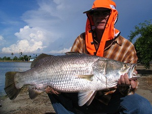 Non stop Barramundi action fishing in Thailand